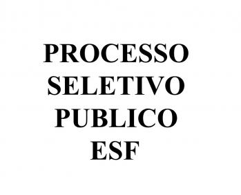 PROCESSO SELETIVO PÚBLICO Nº 001/2019 - EMPREGOS ESF