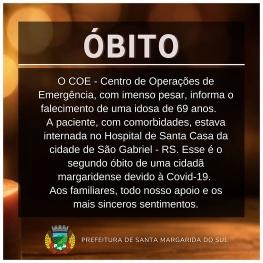 2º ÓBITO POR COVID-19