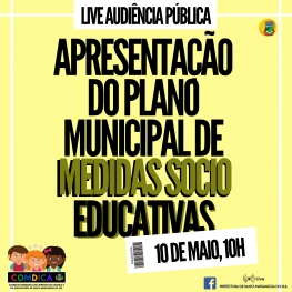 LIVE PLANO MUNICIPAL DE MEDIDAS SOCIO EDUCATIVAS